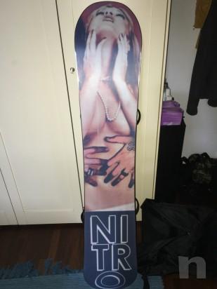 Snowboard Nitro Justin Bennee pro model usata due giorni  foto-5959