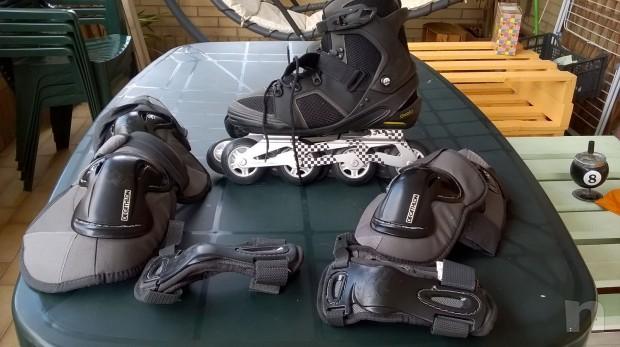 pattini a rotelle in linea più protezioni foto-6089