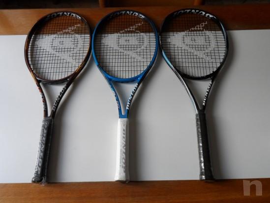 3 Racchette tennis Dunlop nuove 100 euro tutte e tre foto-6571