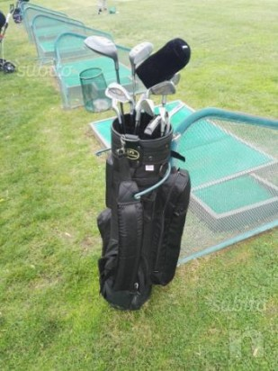 Set da golf ferri e legni, mazze da golf con sacca foto-7296