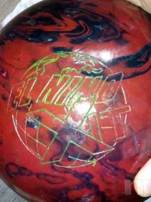 Vendo boccia da bowling + birillo foto-13509