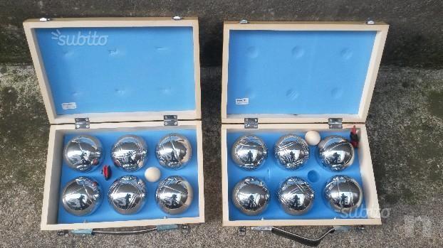 12 Bocce nuove in cassetta di legno foto-7606