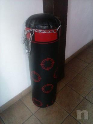 sacco boxe 30 kg domyos + staffa foto-13815