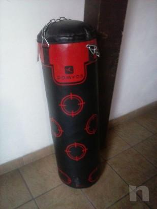 sacco boxe 30 kg domyos + staffa foto-7670