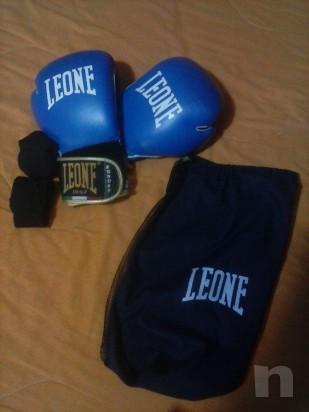 guanti boxe leone 10 oz,custodia e fasce foto-7671