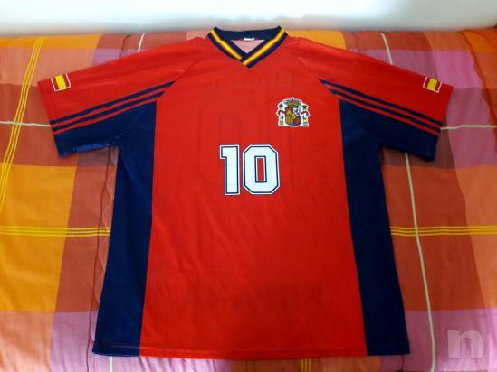 Maglia Spagna Raul Mondiali di Calcio Francia 98 foto-14542