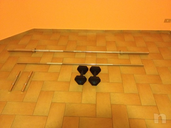 Set di bilancieri e manubri per body building e crossfit foto-8113