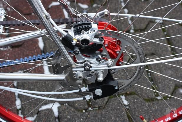 Trekking con telaio in acciaio inox lucido e Gates Carbon Nuovo foto-14995