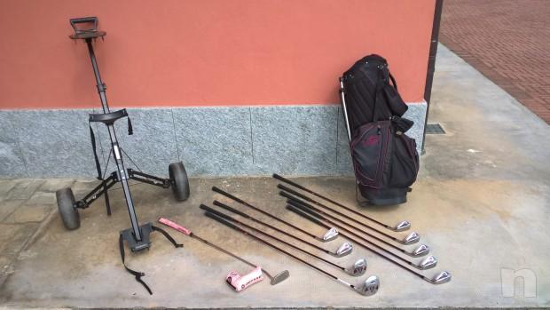 Sacca da golf lady completa di ferri con carrello foto-9393