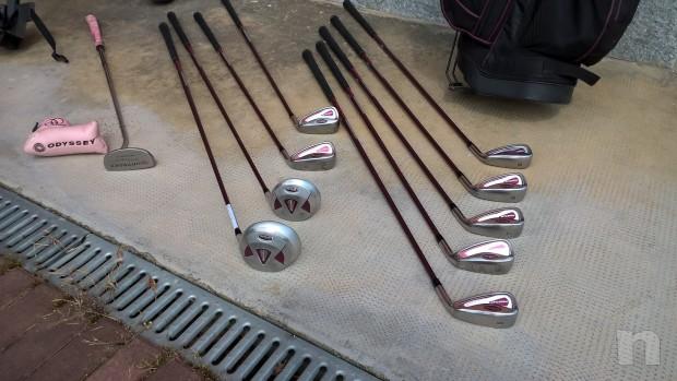 Sacca da golf lady completa di ferri con carrello foto-17132