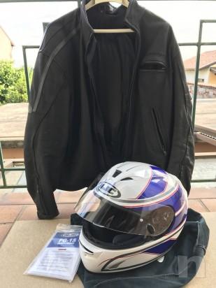 casco hjc + giubbotto in pelle  foto-9627