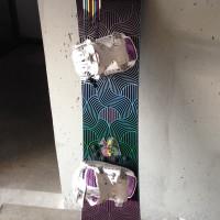 Snowboard donna completo di attacchi e scarponi