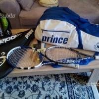 NUOVE racchette tennis BABOLAT PRINCE + borsone