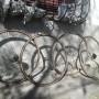 Cerchi con tubolari per bici da corsa vintage