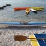 Canoa kayak monoposto in vetroresina