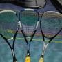 Tre racchette Squash + due custodie