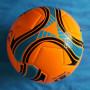 Pallone in cuoio - Arancio fluorescente - Nuovo