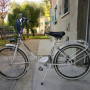Bcicletta da donna pieghevole bianca Harmony