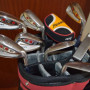 Sacca da golf con ferri