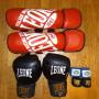 Protezioni boxe pugilato muay thai kickboxe guantoni paracolpi paratibie fasce
