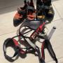Imbrago e scarpe arrampicata