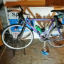 bici Fondriest con manubrio dritto.