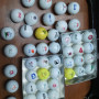 44 palline da golf loggate da collezione bacheca