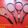 4 racchette tennis non  usate con custodie