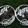 Kit ruote NOS Campagnolo Shamal Ultra alluminio 700c Set color Oro Nuovo